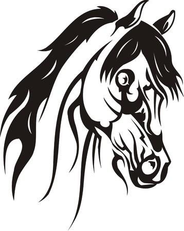 animal leg: Beautiful Horse.Vector illustration ready for vinyl cutting. Illustration