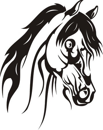 animal leg: Ilustraci�n Horse.Vector hermosa listo para corte de vinilo.