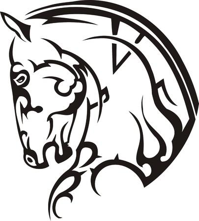rearing: Beautiful Horse.Vector illustration ready for vinyl cutting. Illustration