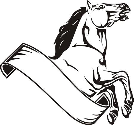 merrie: Mooie Horse.Vector illustratie klaar voor vinyl snijden.