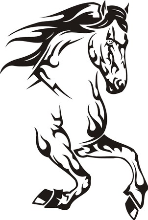 Beautiful Horse.Vector illustration ready for vinyl cutting. Stock Vector - 8594538