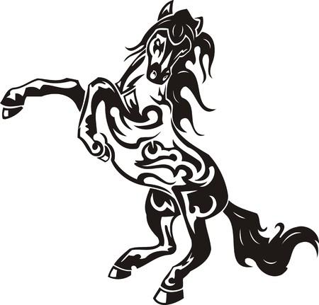 garanhão: Beautiful Horse.Vector illustration ready for vinyl cutting. Ilustra��o