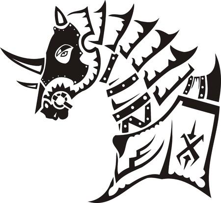 vinyl cutting: Beautiful Horse.Vector illustration ready for vinyl cutting. Illustration