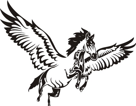 Beautiful Horse.Vector illustration ready for vinyl cutting. Stock Vector - 8594626