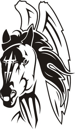 Beautiful Horse.Vector illustration ready for vinyl cutting. Vector