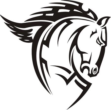 yegua: Ilustraci�n Horse.Vector hermosa listo para corte de vinilo.