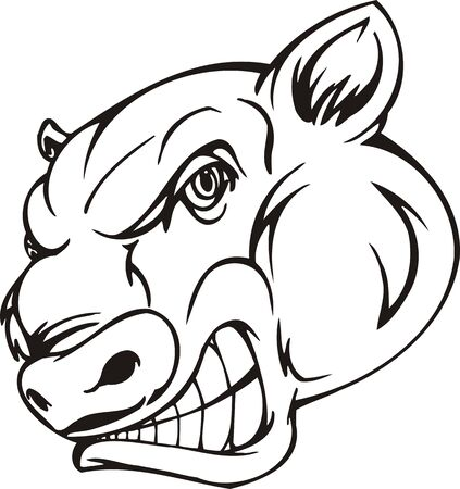Bull.Mascot Templates.Vector illustration ready for vinyl cutting. Vector
