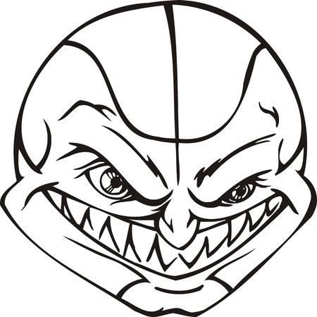 Mask Ball.Mascot Templates.Vector illustration ready for vinyl cutting. Vector