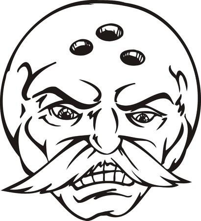 Mask -Billiard  Ball.Mascot Templates.Vector illustration ready for vinyl cutting. Stock Vector - 8594726
