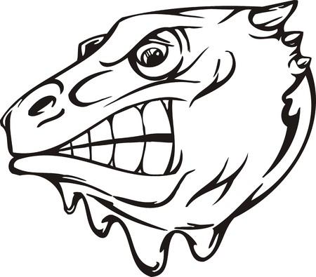 Dragon.Mascot Templates.Vector illustration ready for vinyl cutting. Vector