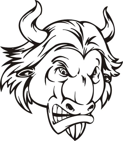 Bull . Mascot Templates.Vector illustration ready for vinyl cutting. Stock Vector - 8594830