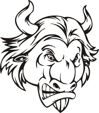 bull's eye: Bull . Mascot Templates.Vector illustration ready for vinyl cutting. Illustration