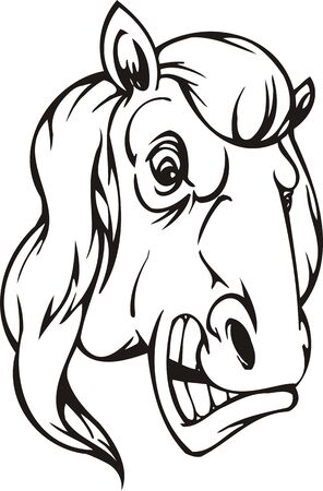 Horse.Mascot Templates.Vector illustration ready for vinyl cutting. Vector