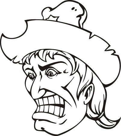 Cowboy.Mascot Templates.Vector illustration ready for vinyl cutting. Vector