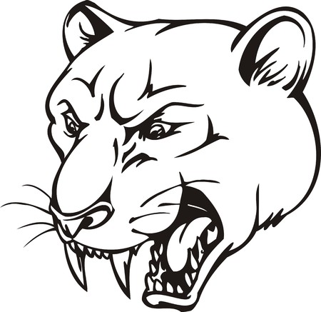 Tiger.Mascot Templates.Vector illustration ready for vinyl cutting. Stock Vector - 8594740