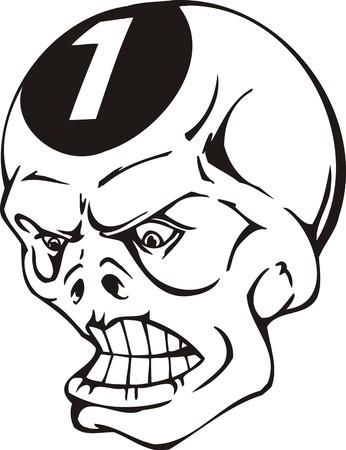 eye sockets: Skulls.Mascot Templates.Vector illustration ready for vinyl cutting.