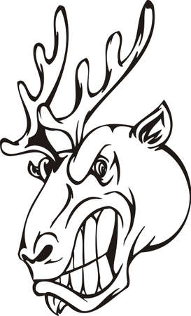 Deer.Mascot Templates.Vector illustration ready for vinyl cutting. Vector
