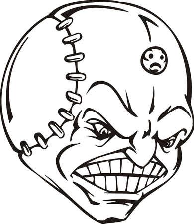 Mask - Ball.Mascot Templates.Vector illustration ready for vinyl cutting. Stock Vector - 8594730