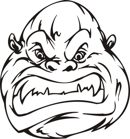 Gorilla.Mascot Templates.Vector illustration ready for vinyl cutting. Vector