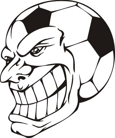 Mask - Ball.Mascot Templates.Vector illustration ready for vinyl cutting. Stock Vector - 8594817