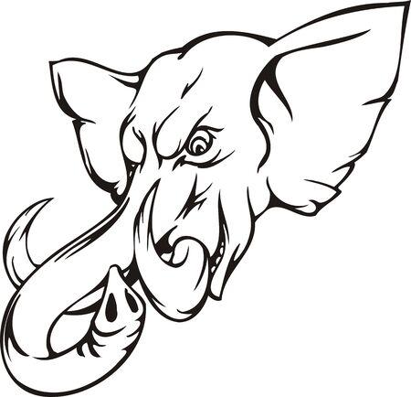 Elephant.Mascot Templates.Vector illustration ready for vinyl cutting. Stock Vector - 8594812