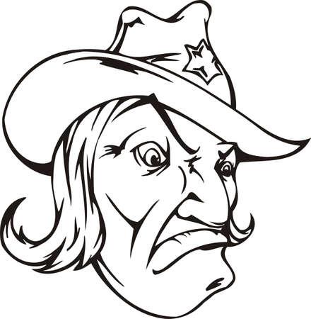 Sheriff.Mascot Templates.Vector illustration ready for vinyl cutting. Vector