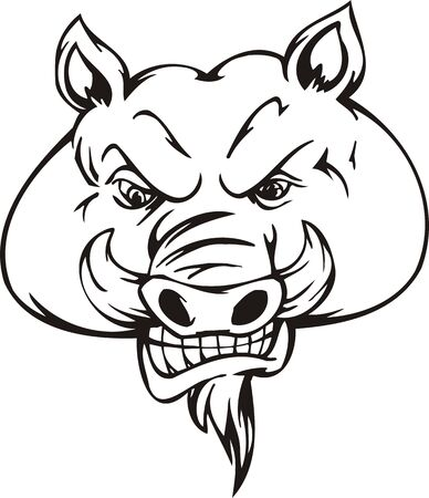 Wild boar.Mascot Templates.Vector illustration ready for vinyl cutting. Vector