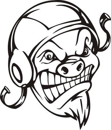 Wild boar.Mascot Templates.Vector illustration ready for vinyl cutting. Stock Vector - 8594729