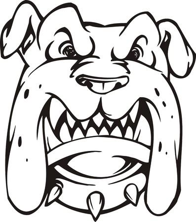 Ilustración de Dog.Mascot Templates.Vector listo para corte de vinilo.