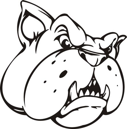 Bulldog.Mascot Templates.Vector illustration ready for vinyl cutting. Stock Vector - 8594721