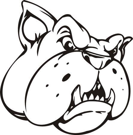 Bulldog.Mascot Templates.Vector illustration ready for vinyl cutting. Stock Vector - 8594721