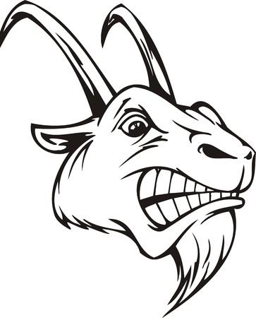 animal nose: Ilustraci�n Kozel.Mascot Templates.Vector listo para corte de vinilo. Vectores