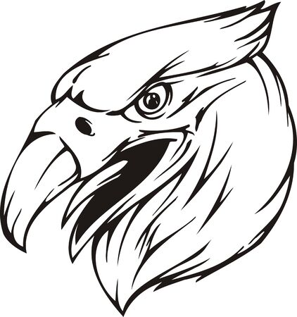 Eagle.Mascot Templates.Vector illustration ready for vinyl cutting. Vector