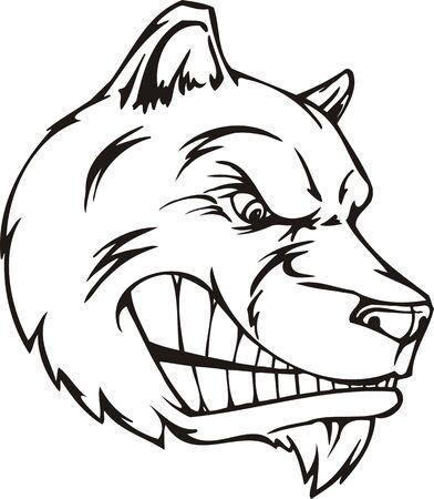 Dog.Mascot Templates.Vector illustration ready for vinyl cutting. Vector