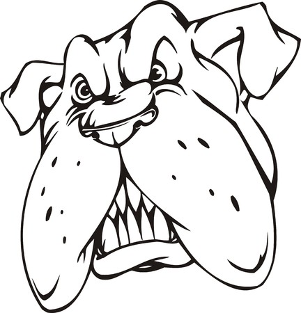 Bulldog.Mascot Templates.Vector illustration ready for vinyl cutting. Vector