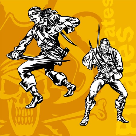 Pirates. Illustration.Vinyl Ready. Stock Vector - 8654154