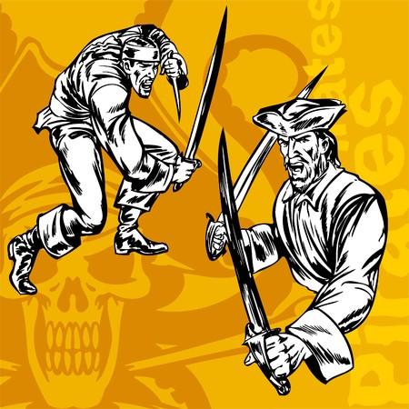 Pirates. Illustration.Vinyl Ready. Stock Vector - 8652064