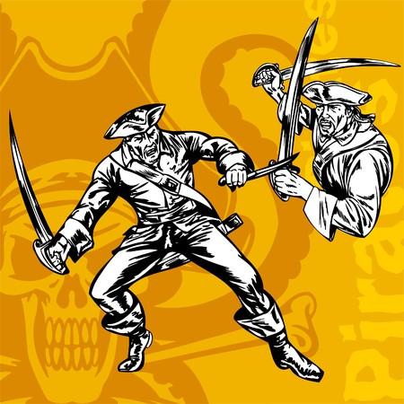 swashbuckler: Pirates. Illustration.Vinyl Ready.