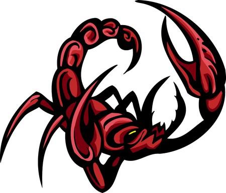 scorpion: Beetles.Predatory insectes clipart.  Illustration pr�te pour la d�coupe de vinyle.