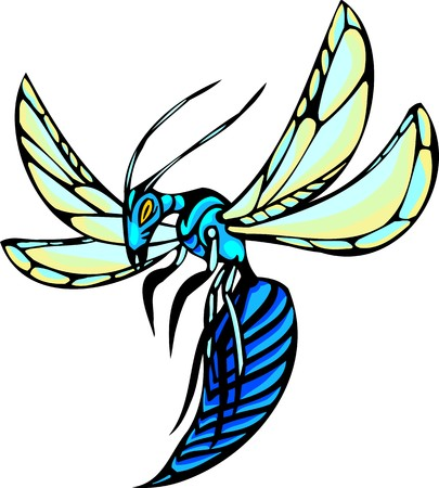 Beetles.Predatory Insects Clip art.  illustration ready for vinyl cutting. Vector