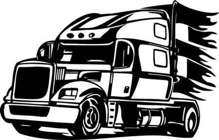 Racing Trucks with inclusion of a flames and tribal. illustration ready for vinyl cutting. Stock Vector - 8652263