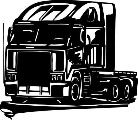 Racing Trucks with inclusion of a flames and tribal. illustration ready for vinyl cutting. Stock Vector - 8651108