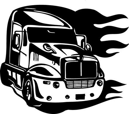 Racing Trucks with inclusion of a flames and tribal. illustration ready for vinyl cutting. Stock Vector - 8651106