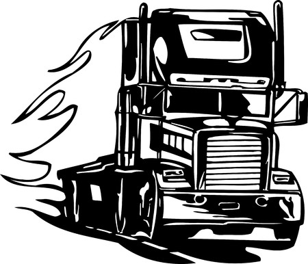 Racing Trucks with inclusion of a flames and tribal. illustration ready for vinyl cutting. Stock Vector - 8651054