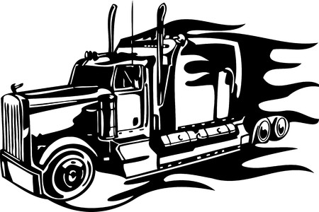 Racing Trucks with inclusion of a flames and tribal. illustration ready for vinyl cutting. Stock Vector - 8652181