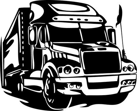 Racing Trucks with inclusion of a flames and tribal. illustration ready for vinyl cutting. Stock Vector - 8651090