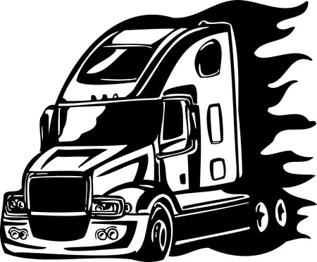 Racing Trucks with inclusion of a flames and tribal. illustration ready for vinyl cutting. Stock Vector - 8651094