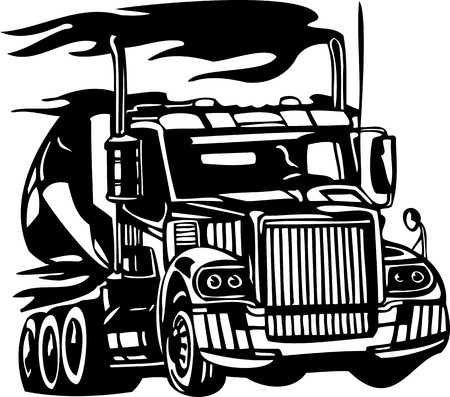 Racing Trucks with inclusion of a flames and tribal. illustration ready for vinyl cutting. Stock Vector - 8651059