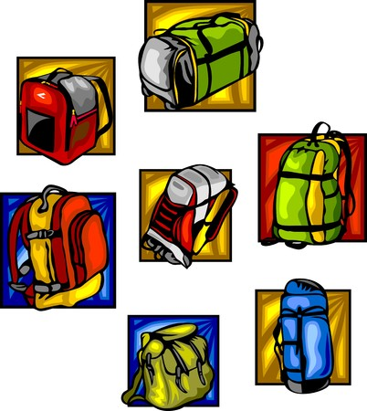 Bags and backpacks Stock Vector - 8651061