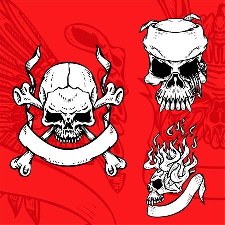 Skulls. Illustration.Vinyl Ready.